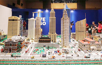 A magical world built by more than 1 million LEGO bricks