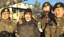 寒波にもDMZを訪れたジョヴォヴィッチの韓国愛