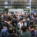 仁川空港第2ターミナルの開港初日、出国手続きに25分