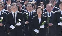 盧武鉉元大統領の9周忌追悼式に3千人あまりの追悼者