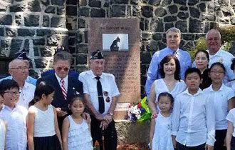 「慰安婦の碑」米ニュージャージー州で除幕式