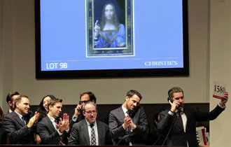 ダビンチのキリスト画、史上最高額の4979億ウォンで落札