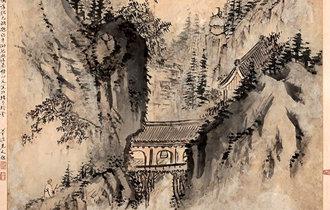 檀園の『山寺歸僧圖』の寺院は神光寺、古美術オークション会社が分析