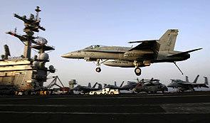 F/A-18 전투기 이라크 반군 공습