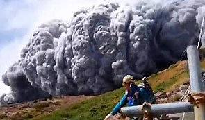일본 온타케산 폭발, 영상 보니