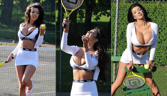 영국 출신 모델, 파격적인 테니스 패션