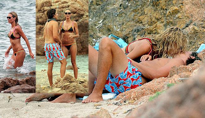 하이디 클룸, 해변서 뜨거운 애정행각