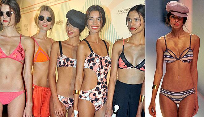 스페인 '패션위크' 행사…비키니 모델들
