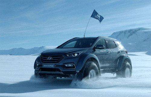 英國探險家沙克爾頓的曾外孫駕駛現代SUV聖達菲橫穿5800公裏南極區間