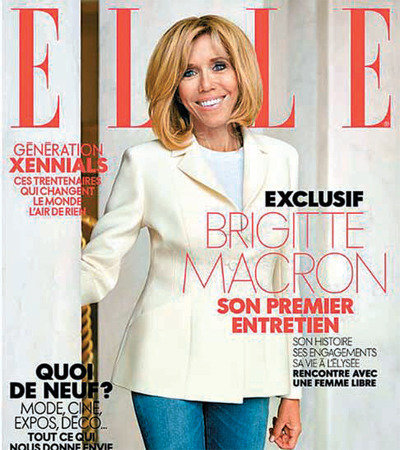 馬克龍夫人布麗吉特接受《ELLE》採訪