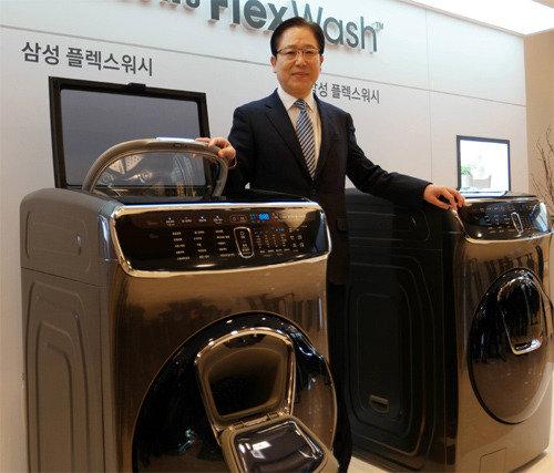"""三星电子在韩国国内推出三开门All-in-One洗衣机""""FlexWash"""""""