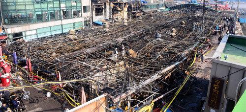 仁川水产市场火灾,无许可建筑惹的祸