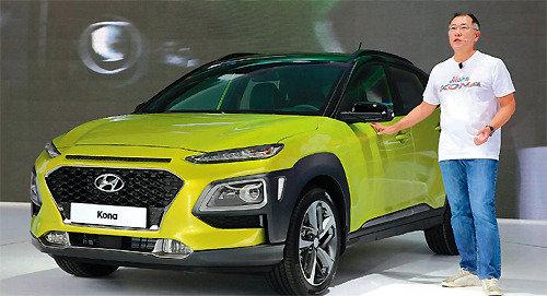 """郑义宣驾驶""""KONA""""亮相,""""2020年前打造SUV全生产线"""""""