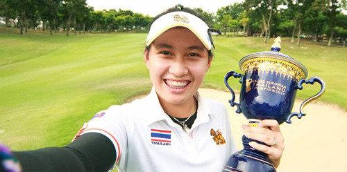 泰国14岁少女Atthaya Thitikul问鼎女子欧巡泰国赛,成女子职业高尔夫史上最年轻的冠军