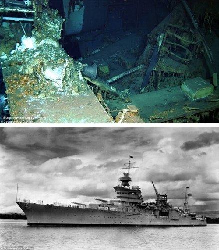 曾运送广岛原子弹的美国战舰时隔72年被发现