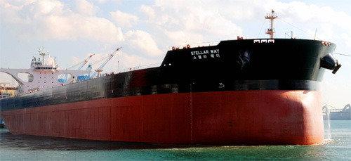 现代重工业又一次获得4520亿韩元规模的矿砂船订单