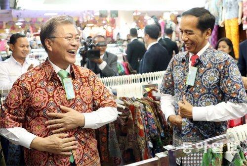 """文在寅总统与印尼总统举行元首会谈,""""把与东盟的贸易水平提高到与中国看齐"""""""