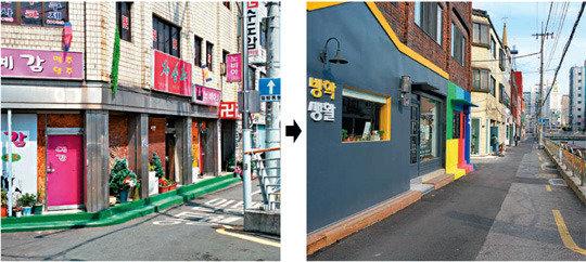 首尔道峰区放鹤川一带摇身一变成为韩文文化街
