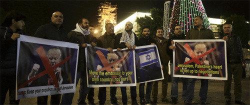 特朗普站到了白宫亲以色列派一边