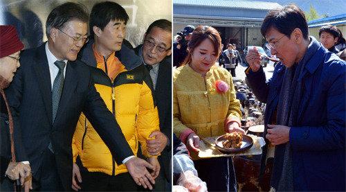 Moon, Ahn see approval ratings at 32%, 21%