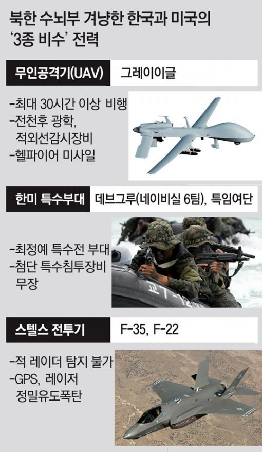 S. Korea, U.S. aim at N. Korean leadership with 3 tactical weapons