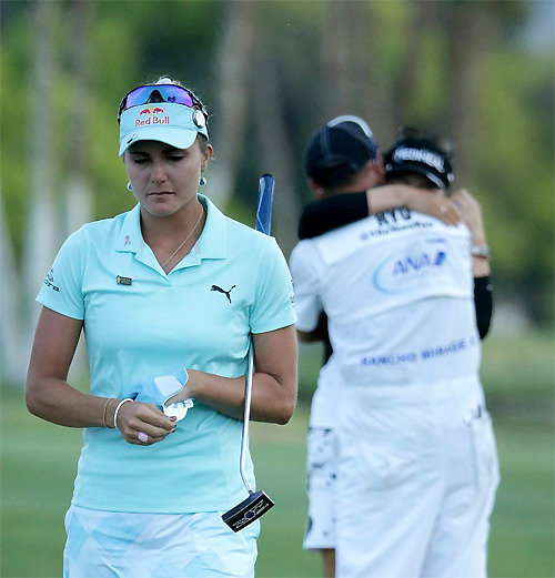 Lexi Thompson hopes her penalty does not affect Ryu So-yeon