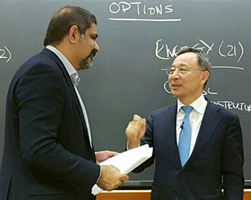 KT chairman lectures at Harvard Business School