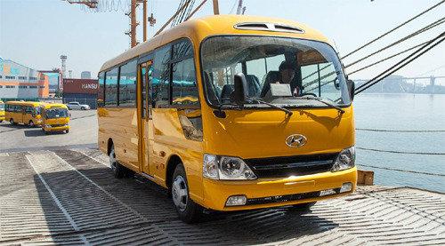 KOTRA exports 200 Hyundai buses to Myanmar