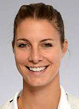 Four and a half months pregnant Mandy Minella plays at Wimbledon