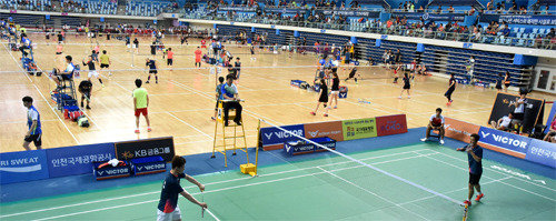 Professional and amateur badminton events held at Incheon stadium