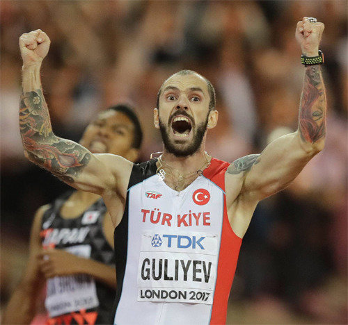 Turkish sprinter Ramil Guliyev stuns world by winning men's 200-meter race