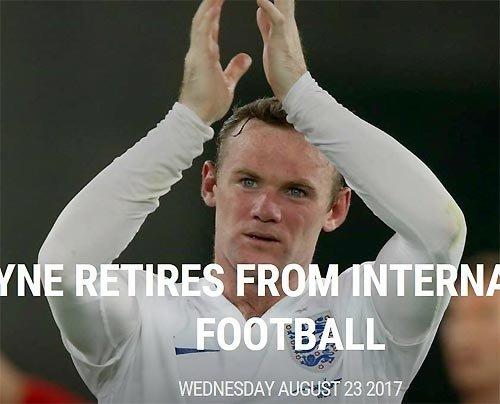 English striker Rooney retires from national team