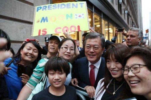 Pres. Moon: 'S. Korea–U.S. ties are iron fist'