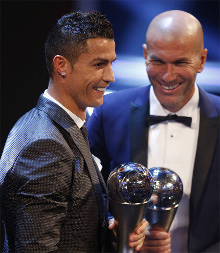 Ronaldo wins Best FIFA Men's Player Award for second year