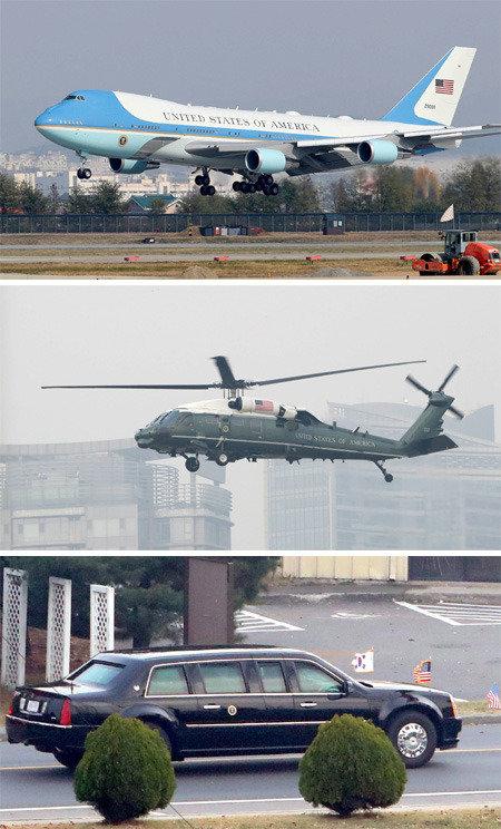 Trump's fleet: Air Force One, Marine One, Cadillac One