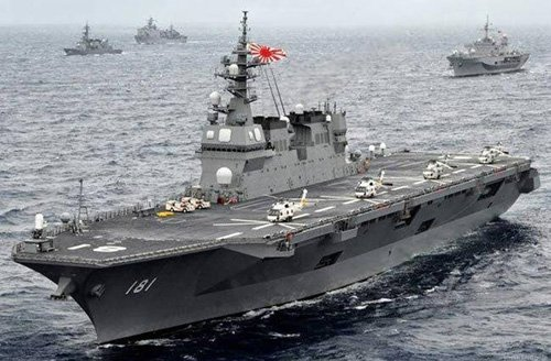 Japan aims to own aircraft carrier loaded with combat aircraft