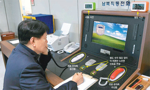 N. Korea reopens cross-border hotline to the South