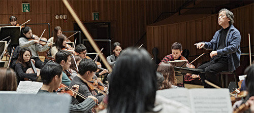 Maestro Chung Myung-whun leads a new joint youth orchestra
