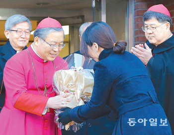 Korean catholic community celebrates the new cardinal