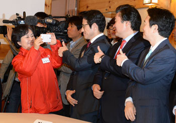 Ruling party hopefuls for Gyeonggi governor get together