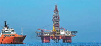Chinese oil rig in disputed South China Sea