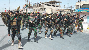Shiite militias gather in Baghdad