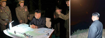 N. Korean leader guides rocket firing drill