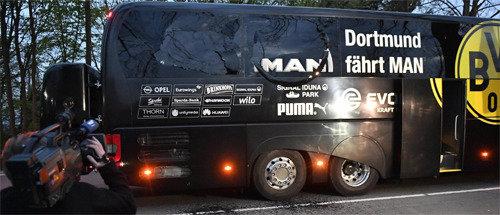 独ドルトムント、サッカー選手が乗ったバスの近くで爆発
