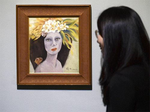 贋作疑惑の「美人図」、27年ぶりに一般公開