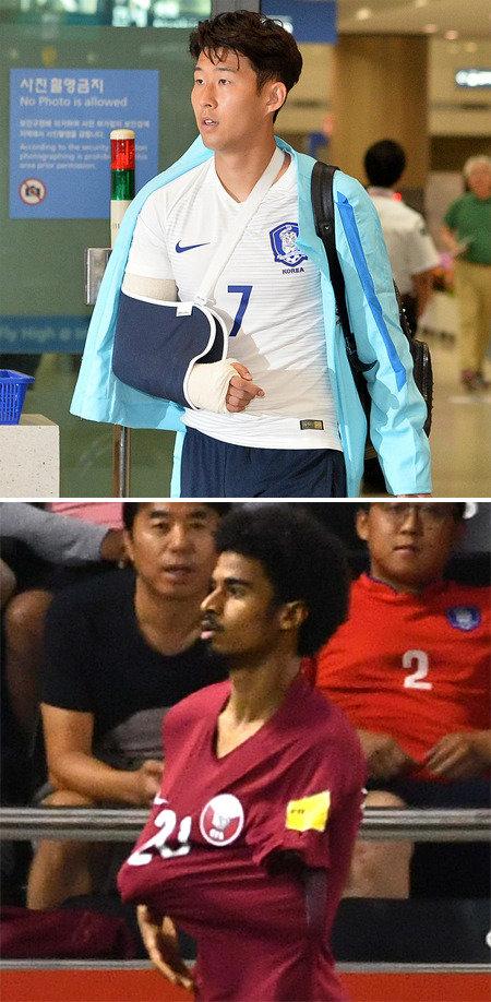 孫興民は右腕骨折か、カタール選手のギブスパフォーにネットで批判の声