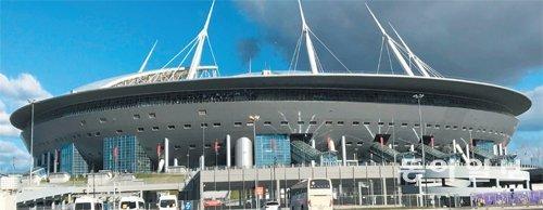 コンフェデ杯決勝の地、サンクトペテルブルク・スタジアムを行く