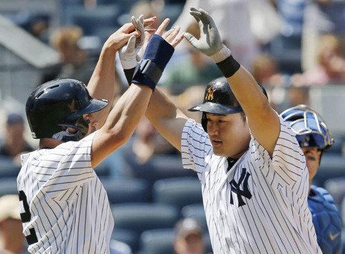 韓国人初のヤンキース打者、チェ・ジマンが初試合で本塁打