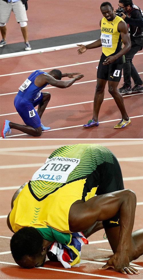 今大会切りで引退宣言のボルトが3位、世界陸上選手権100メートル