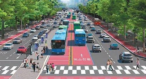 鍾路中央バス車線が12月に開通、世宗路~興仁之門の2.8キロ区間